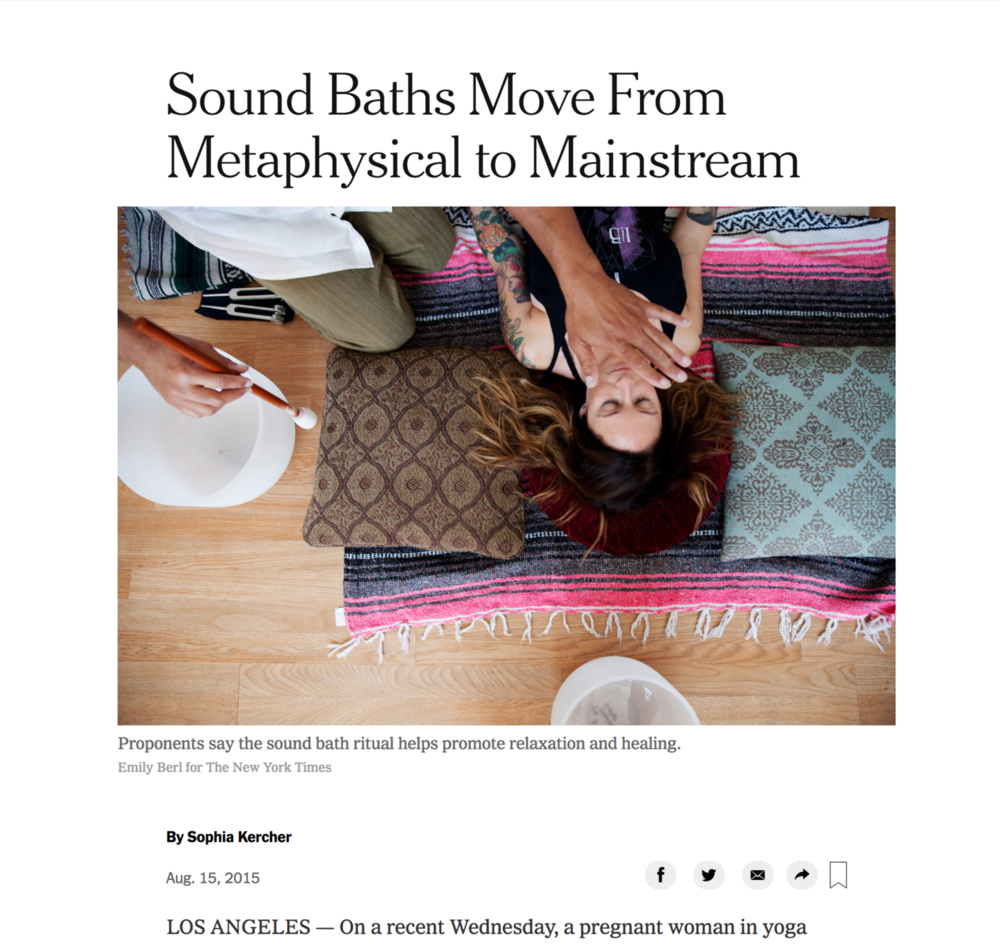 new york times article, soundbaths in the mainstream