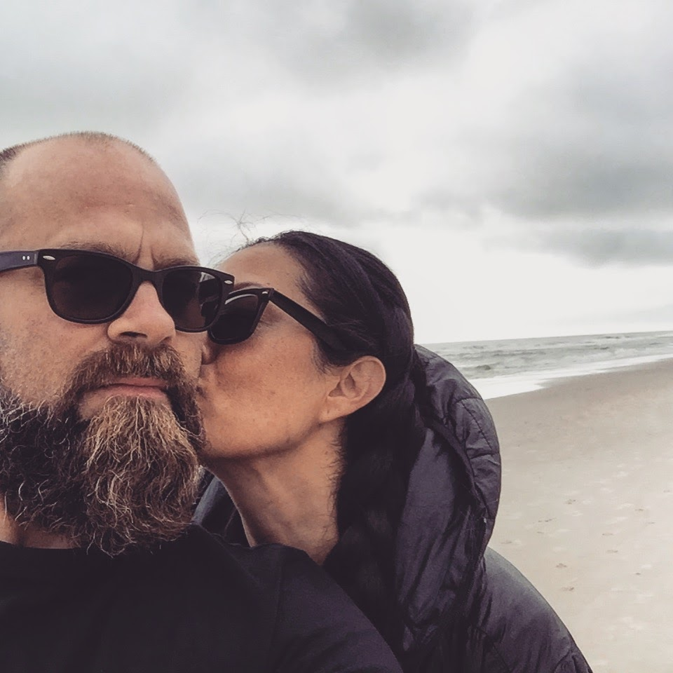 Paul & Pris - Enjoying a shuckin good time in Carolina Beach, NC!