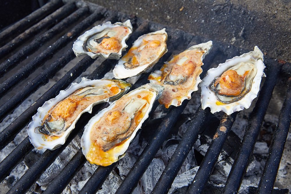 BBQ Bourbon Chipotle Oysters - Hold your horses! It's only seasonal.