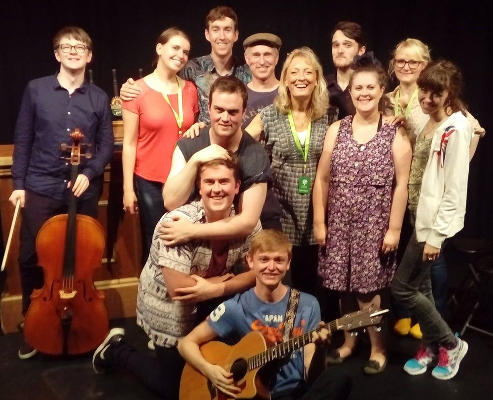 Myself and the cast/crew of 'The Local' at the Edinburgh Fringe Festival, 2017