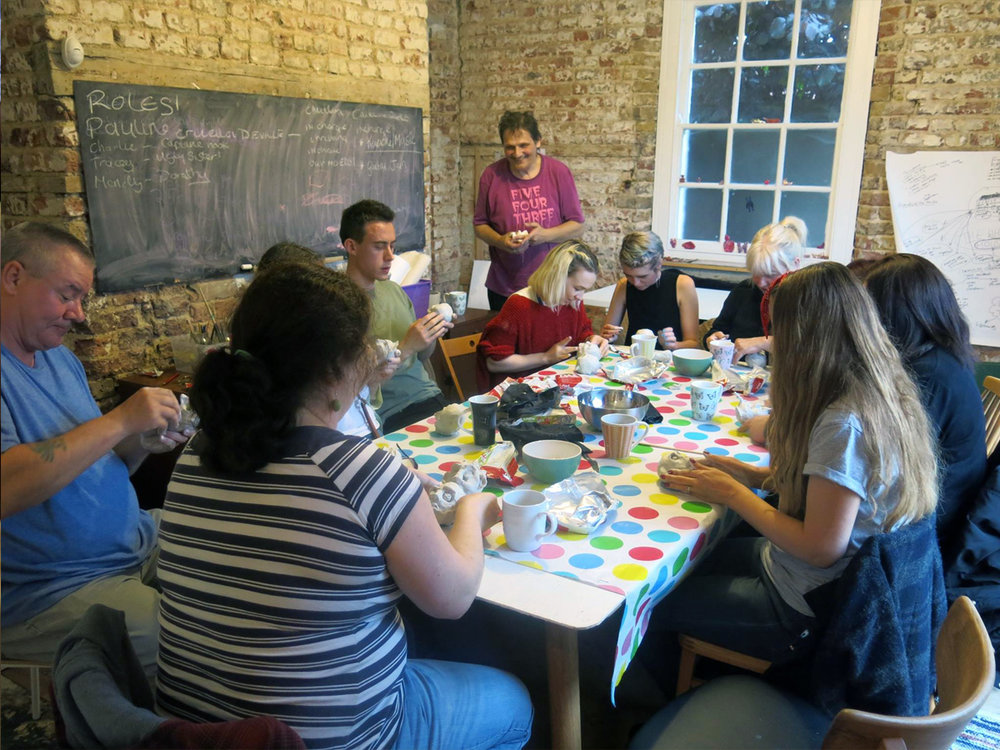 Clay workshop at The White House