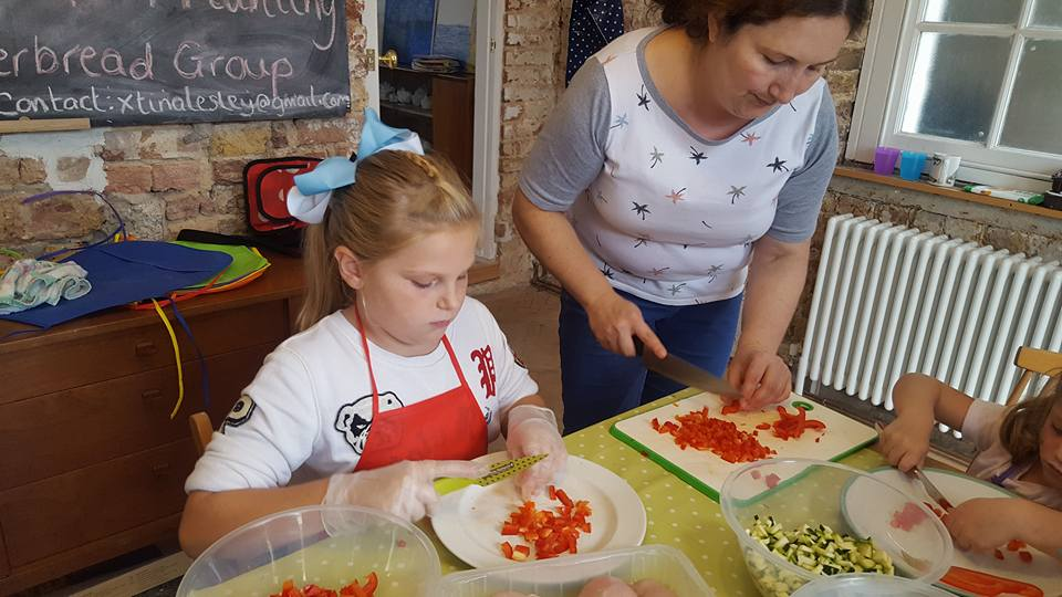 Chicken and pasta dish being made at the Healthy Families Programme.