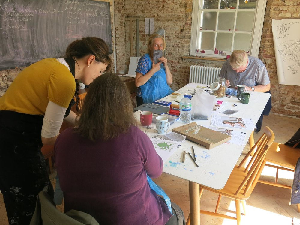 Lino Printing workshop at The White House with Karen Lewis