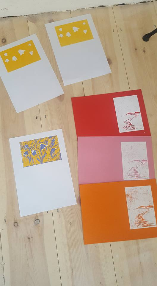 Lino prints at The White House