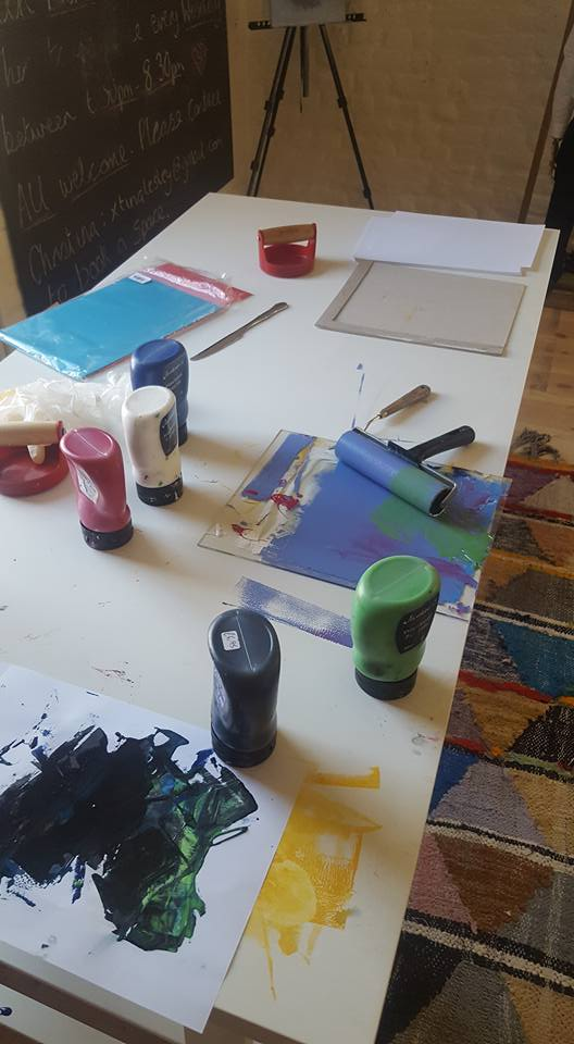 Lino printing materials at The White House