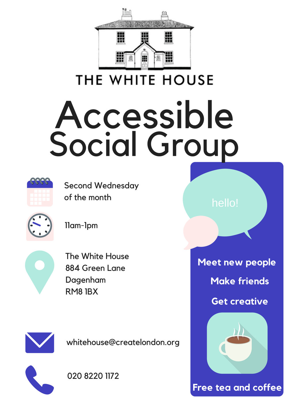 Accessible Social Group for adults with disabilities