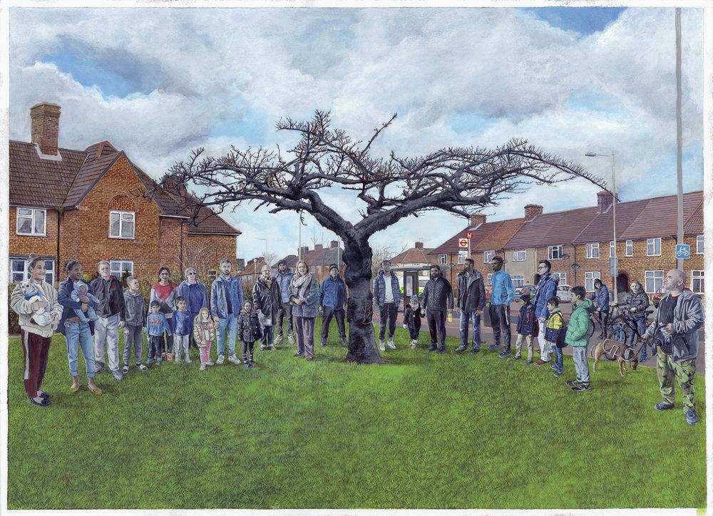 Walnut Tree Road by Wouter Osterholt