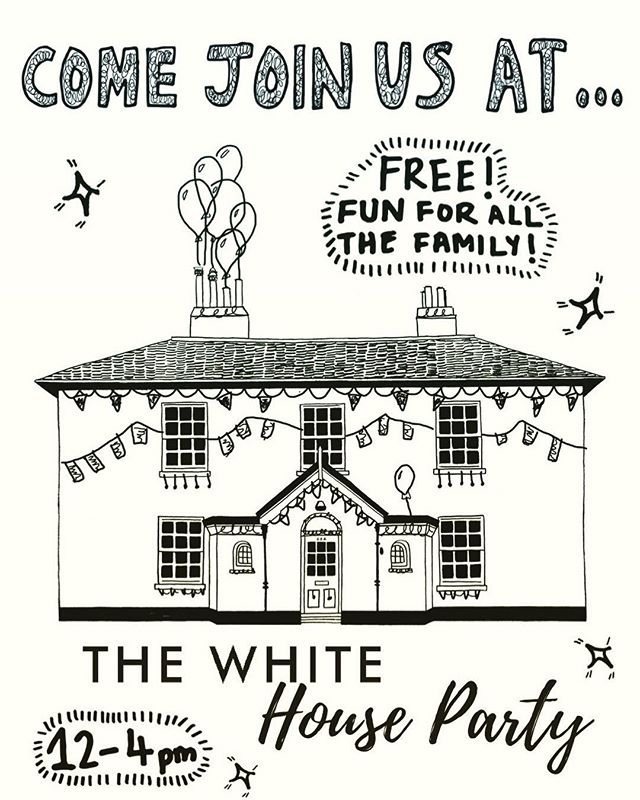 It's nearly here!! THE WHITE HOUSE PARTY 🎈 🎉 TOMORROW 12-4pm! Join us for loads of fun activities and a free BBQ for the bank holiday!  It's gonna be ☀️☀️☀️