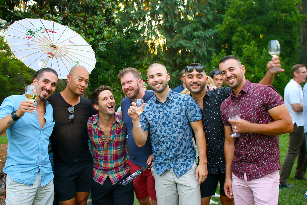 Friday, July 20th   VIP Welcome Reception 3:00 - 6:00pm & Wine Tasting   Exclusive to Gay Wine Weekend guests staying at the luxurious host hotel & VIP Pass holders have exclusive access to this year's VIP Reception & wine tasting at Gay Wine Weekend.  Located only 45 minutes north of San Francisco it is truly an amazingly breathtaking place to gather and show your Pride, Out In The Vineyard.