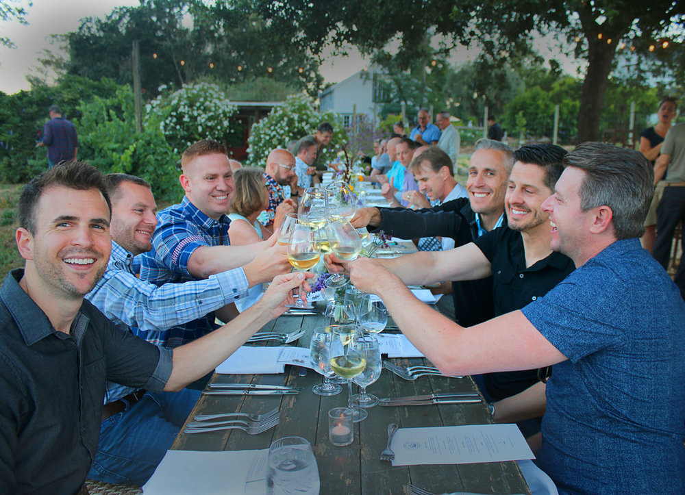 WINE & DINE OUT IN SONOMA - 7/8:00PM DEPENDING ON LOCATION. $125 - $150   We are proud to present exclusive winemaker dinners for Gay Wine Weekend with some of wine country's most talented winemakers. Last year's winemaker dinners sold out quickly so we recommend you book early for your intimate winemaker dinners at restaurants in the heart of Sonoma Valley & around the historic Sonoma Plaza                                                                    GET DETAILS & BOOK
