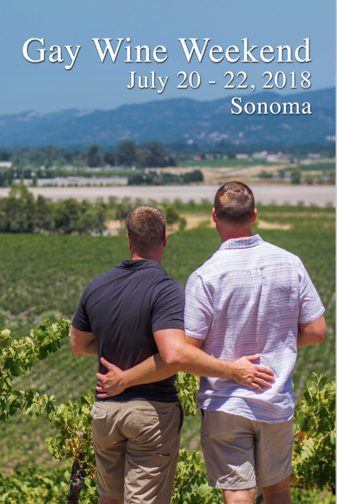 It's OUT! The Gay Wine Weekend 2018 event guide!   Check out all this coming weekend's activites, winemaker dinners, winery tours, wine auction and Recovery Brunch, Twilight T-Dance at  Chateau St. Jean  winery and, of course, all our sponsors and supports who help us raise funds for  Face to Face Sonoma County AIDS Network ! We couldn't do it without them!   GET IT!