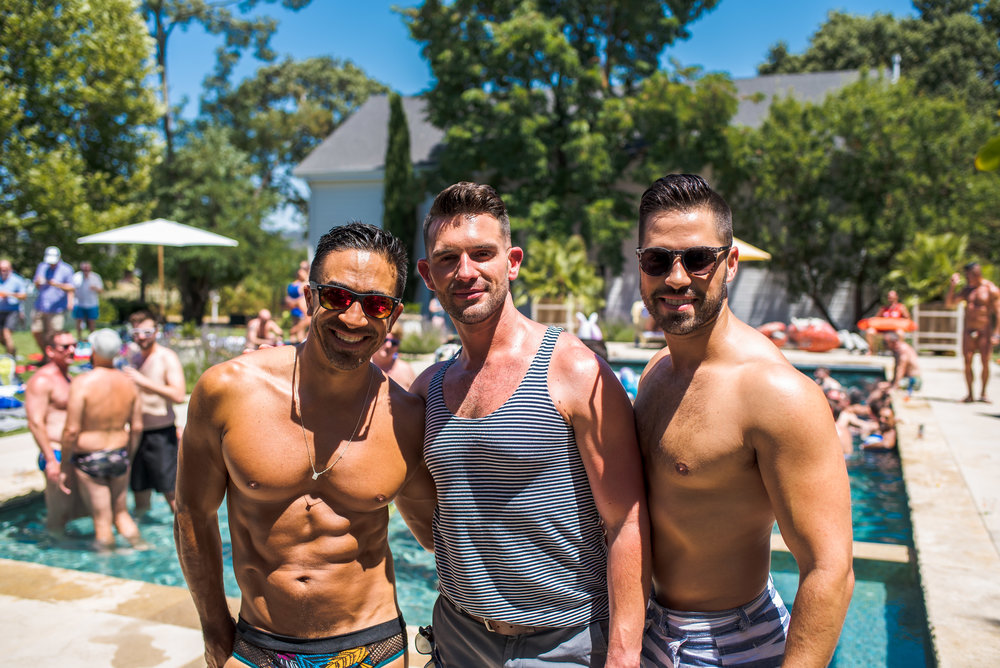 Sunday Pool Soiree 1pm - 4pm   This year we're mixing it up and wtih a REAL SONOMA POOL PARTY located just minutes frrom the Plaza at the beautiful home of our good friends, who haas generously opened her home to our guests.  Spend Sunday Sonoma Style, with a chill afternoon poolside and enjoy the final afternoon of Gay Wine Weekend, lounging and soaking in the warm Sonoma Sun until departure - or extend your stay and keep Gay Wine Weekend going!