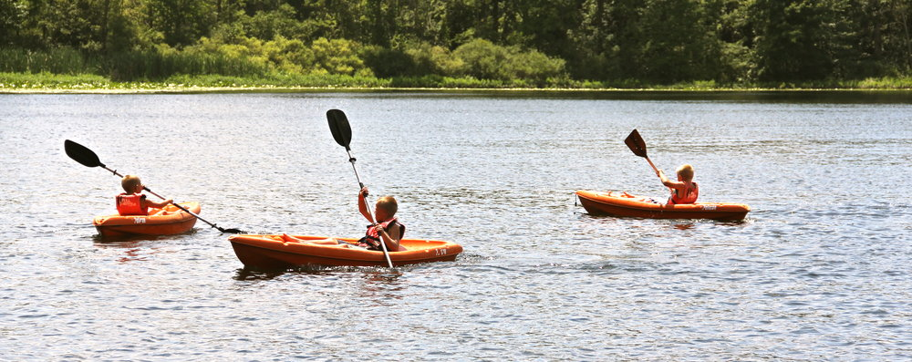 We have about 8 canoes, 6 paddleboats, 10 kayaks, and 5 stand-up paddle boards avialable for your group to use.