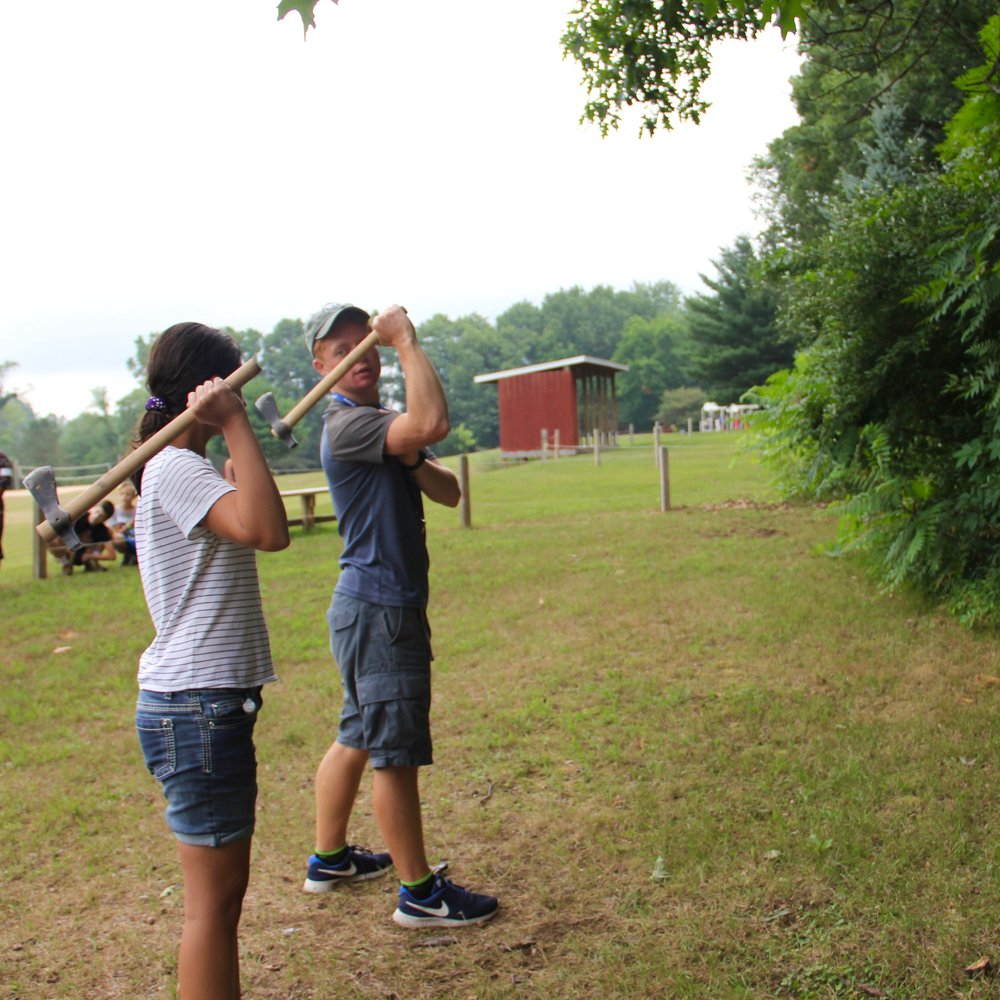 Throwing Tomahawks is just one of the great activities we do at SON-Life for our Junior Escape camps and above.