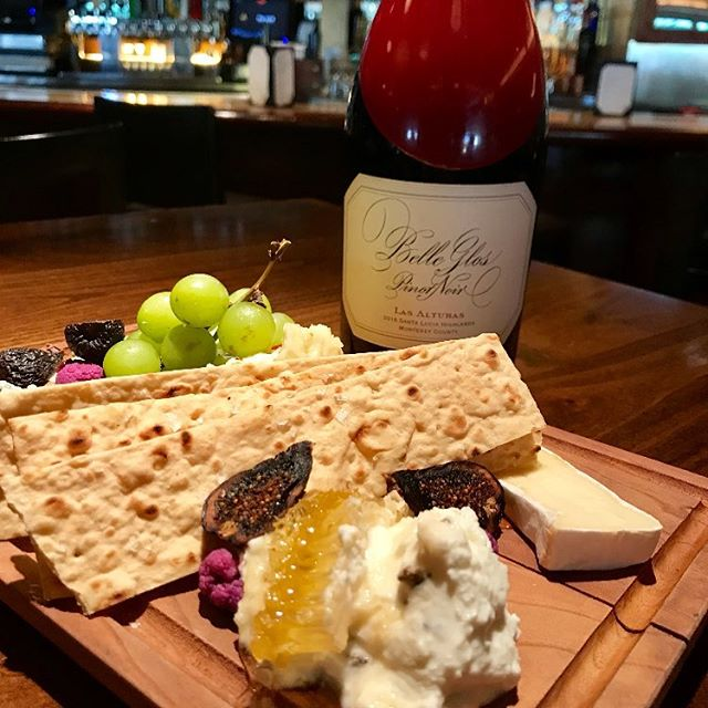 Wine Down Wednesday features 1/2 priced bottles of wine & a new Cheese Board! •House whipped lavender mint ricotta,Double cream brie cheese, Carr Valley smoked pepper jack, Granny Smith apple, grapes, pickled florets, mission figs & fresh honey comb•  Pair it with a bottle of our 2016 Belle Glos Las Alturas for only $34.50 on Wednesdays, cheaper than retail price!