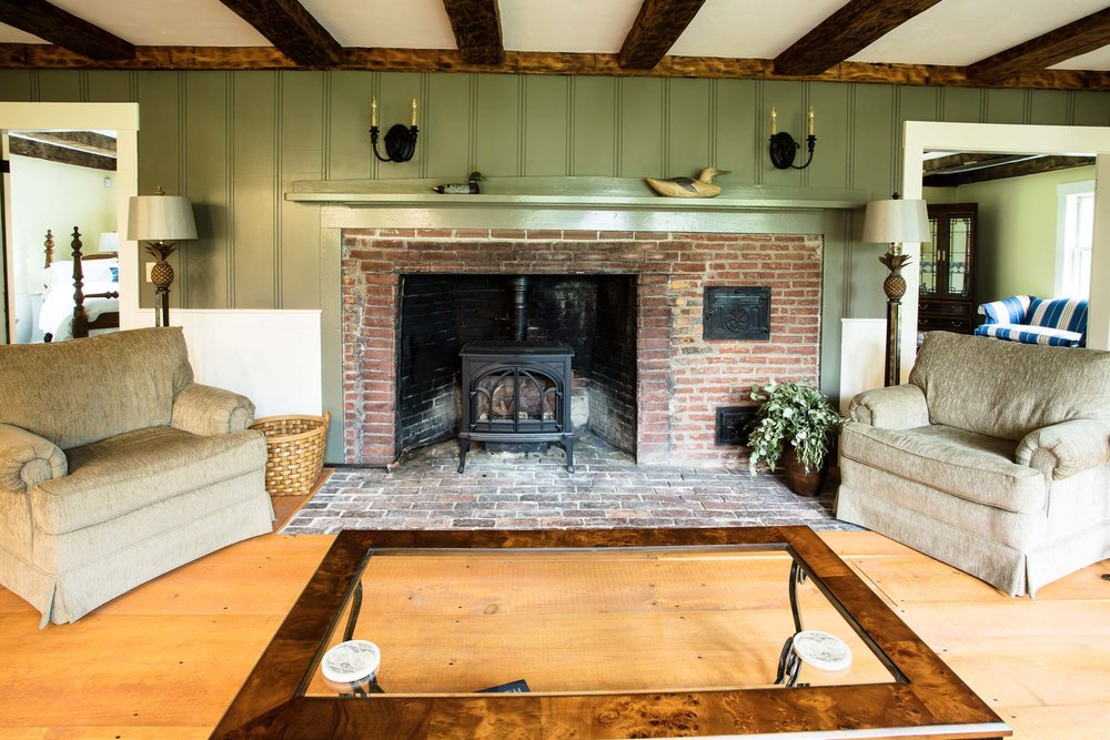 Early American Farmhouse Fireplace