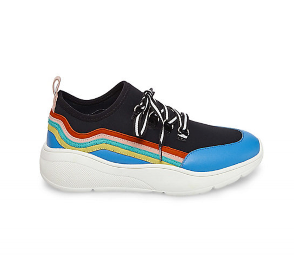 "Steve Madden Cavo Sneaker in ""Black Multi"" $90, SteveMadden.com"