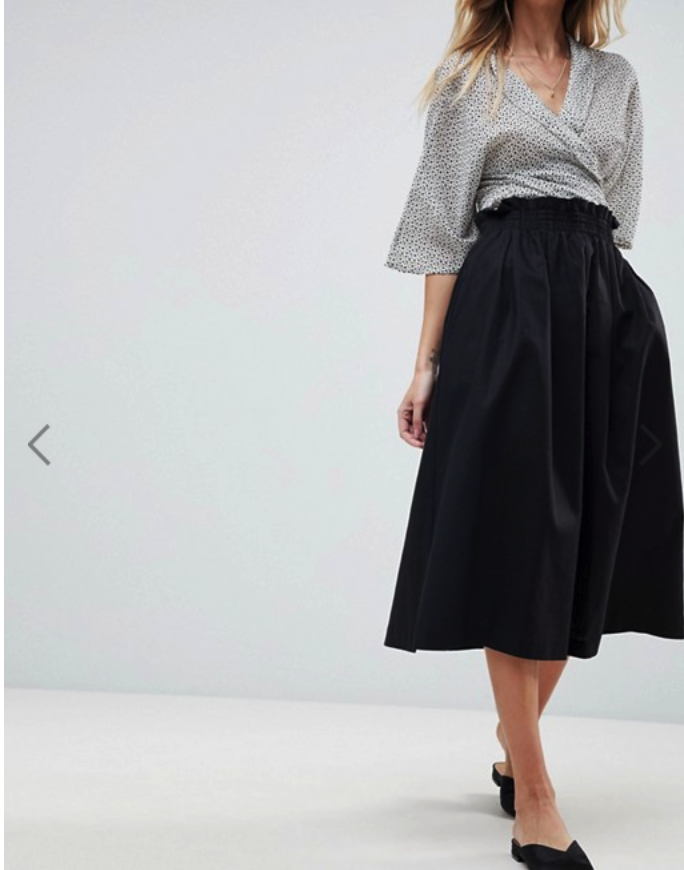 ASOS Tailored Linen Prom Skirt: $45.   Here