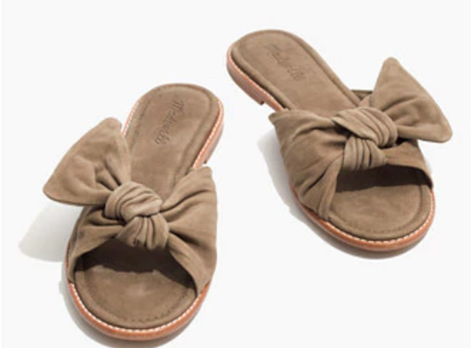 Madewell: Naida Half-Bow Sandal $98   here