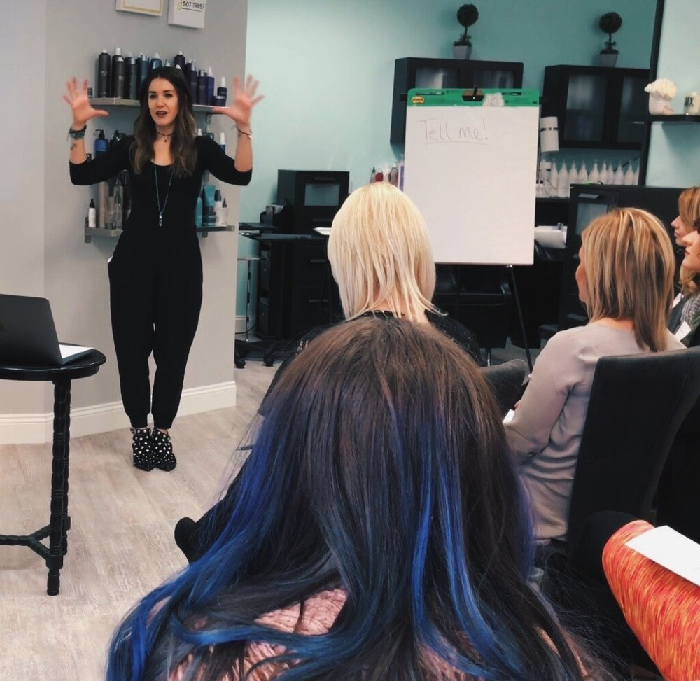 Transform the way you think about being a hairdresser. - In salon coaching might be the right fit to elevate your culture