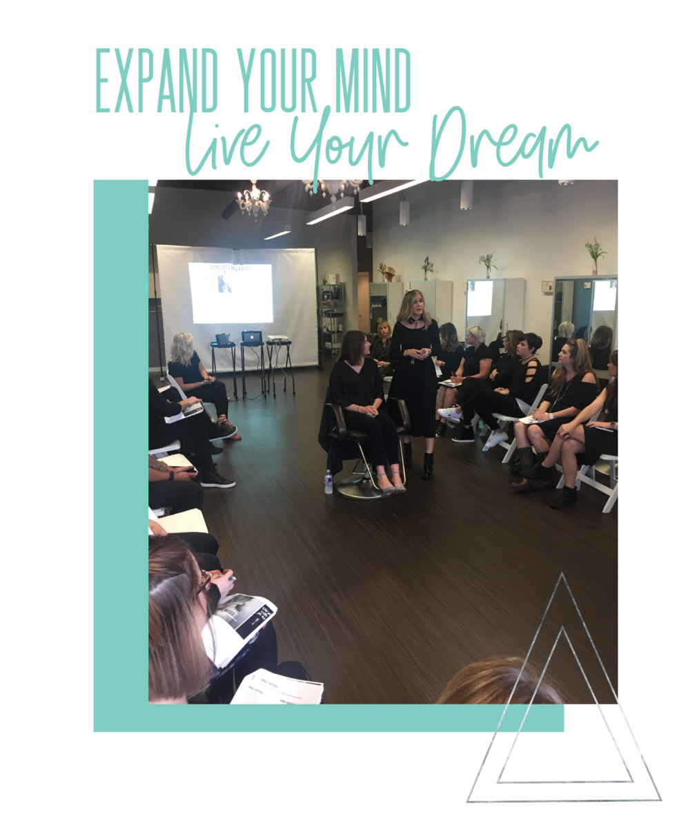 Kelli Mason offers in salon coaching classes for individual salon teams as well as open classes for hair stylists and hair dressers.
