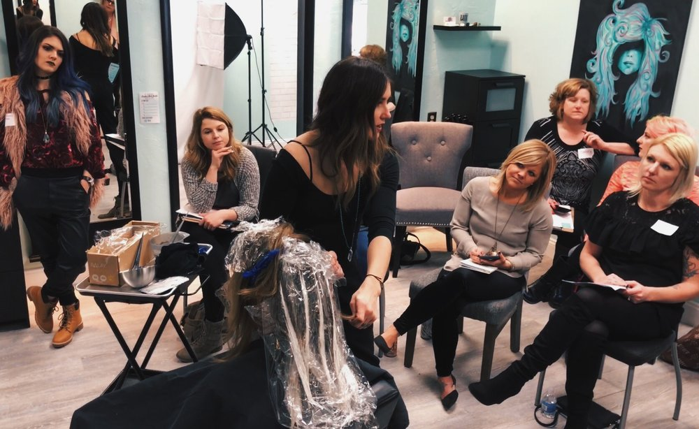 I taught my first 2 day master class at my salon in Michigan.  I launched the first ever Beyond Business class based off of Limitless Hairdresser!