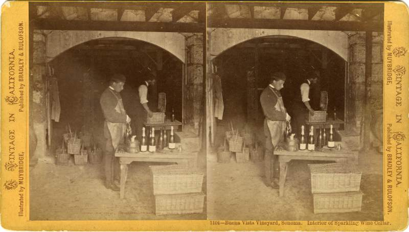 Historic photos show the early days of Buena Vista Winery