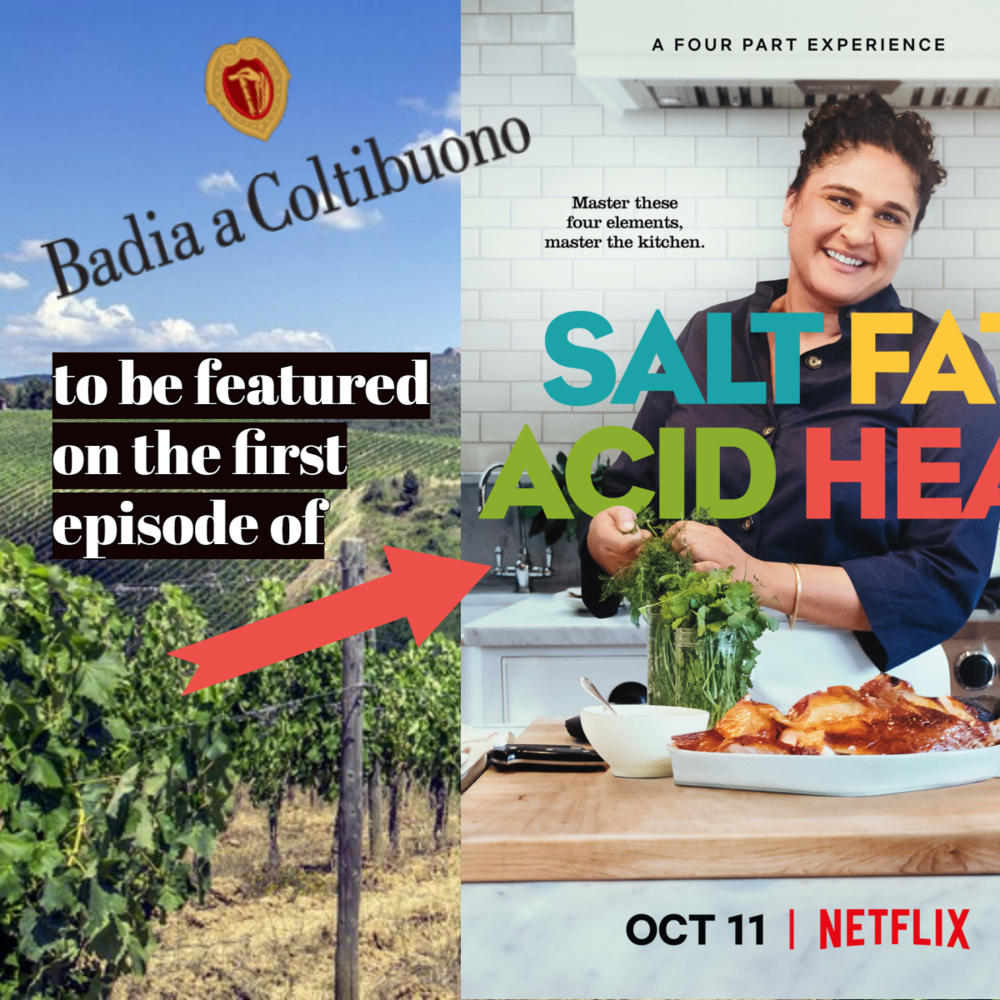 "Badia a Coltibuono Featured On First Episode of Netflix's ""Salt, Fat, Acid, Heat"""