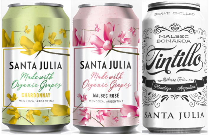 Santa Julia Taps into Alternative Packaging Market with Release of Canned Wines – Organic Rosé, Organic Chardonnay & Tintillo Red Blend