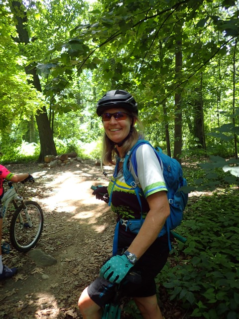 Andree Sanders on a trail ride.