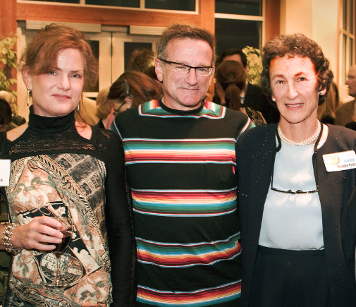 Robin Williams Supported Trips for Kids - In this image, Robin attended an event in Marin County and is photographed with Pat Gallery, chair of the Trips for Kids national Board of Directors (left), and Marilyn Price, Founder of Trips for Kids (right).