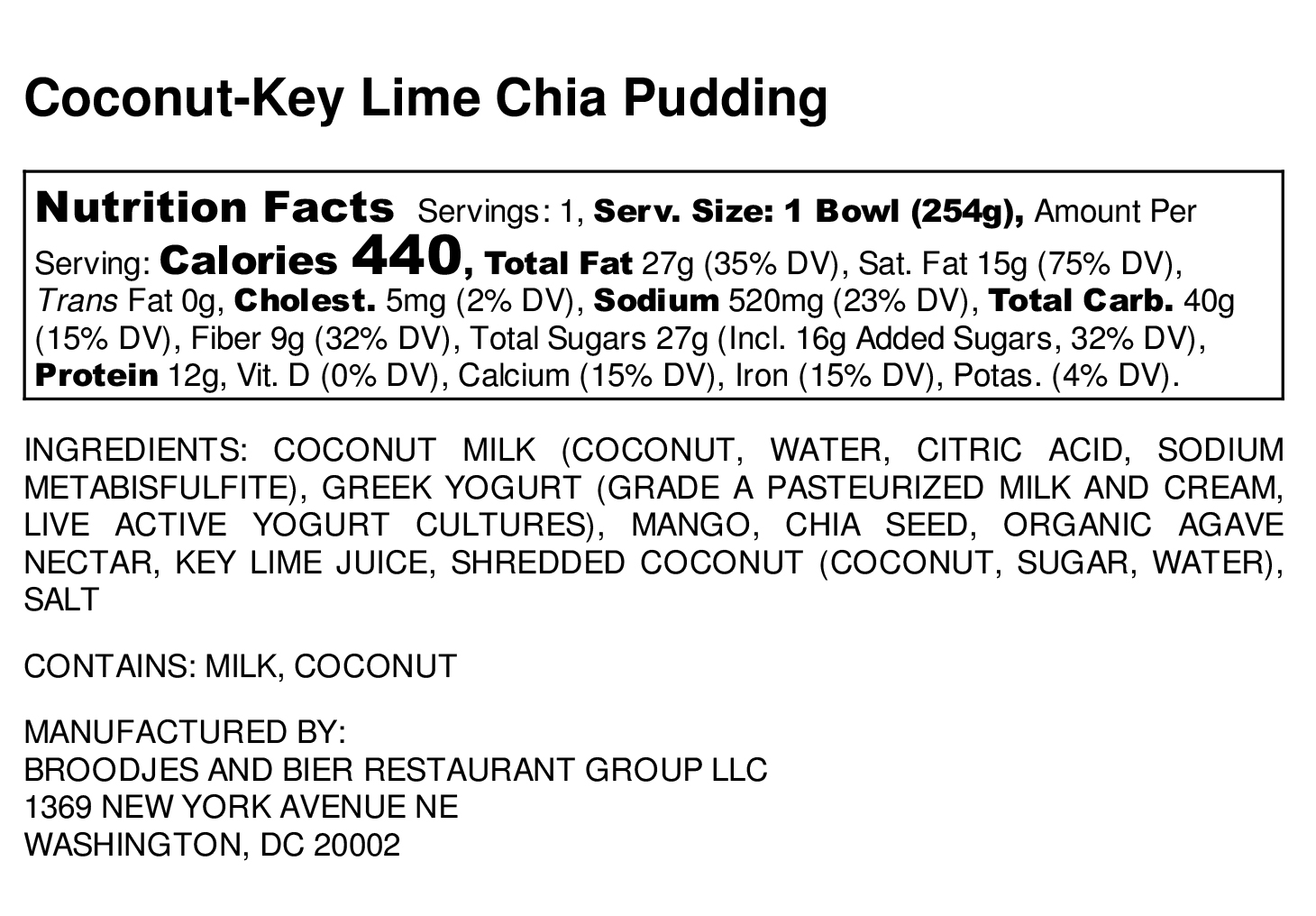 Coconut Key Lime Chia Pudding — Broodjes & Bier is now