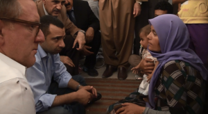 Rev. El Shafie speaks with Yazidi refugee family that escaped from Mount Sinjar (5 family members missing)