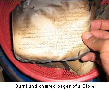 Burnt Pages of Bible