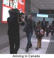 Neeha arriving in Canada