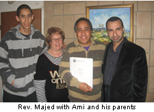 Rev Majed with Ami and his parents