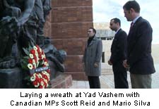 Wreath Ceremony at Yad Vashem with Canadian MPs