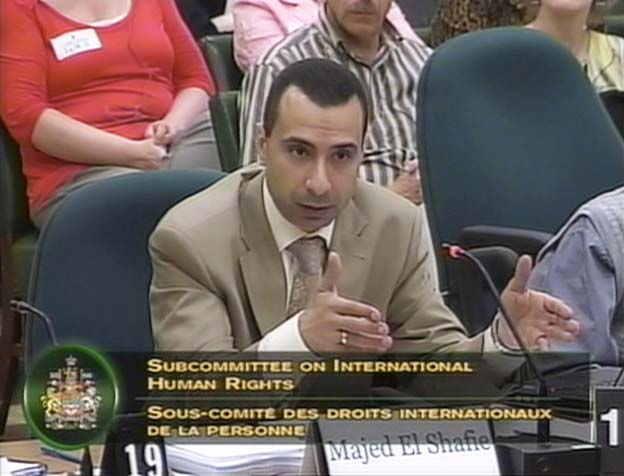 Majed El Shafie Human Rights Sub Committee Canada