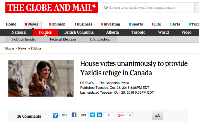 Read the Globe and Mail article