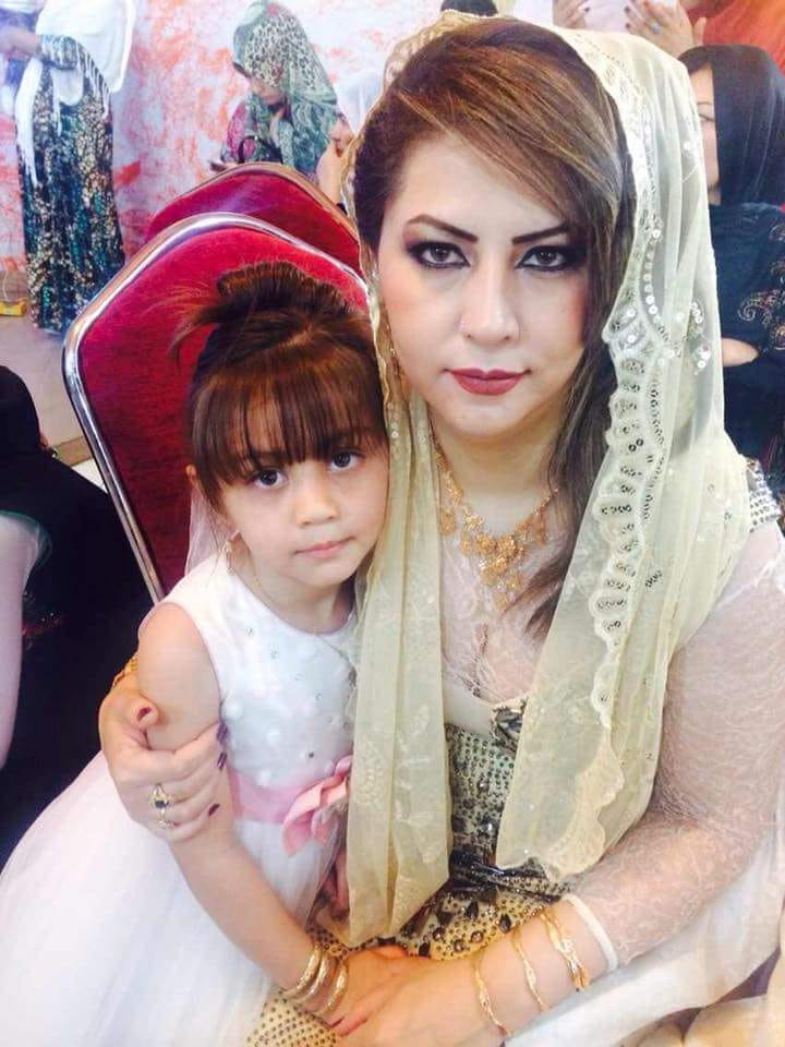 Nafisa and her daughter prior to the 2016 attack -