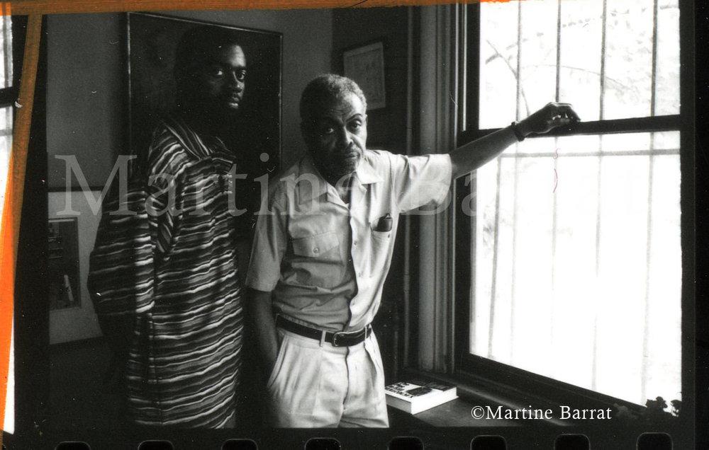 Photograph of the late Amiri Baraka taken by Martine Barrat
