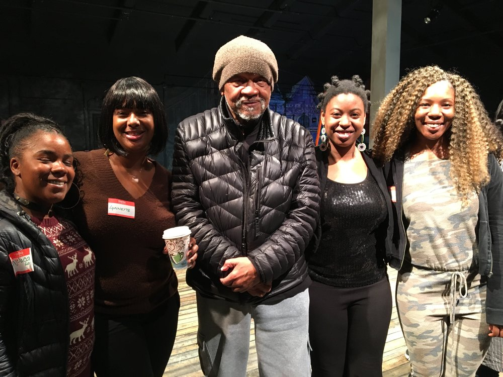 Ishmael Reed with Laney College Students. Photograph by Carla Blank.