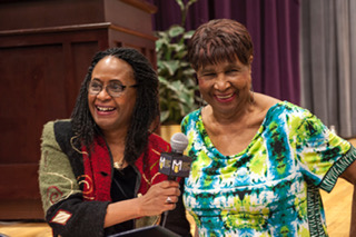 Dr. Brenda Greene and Louise  Meriwether at 2018 National Black Writers Conference.2.jpeg.jpg
