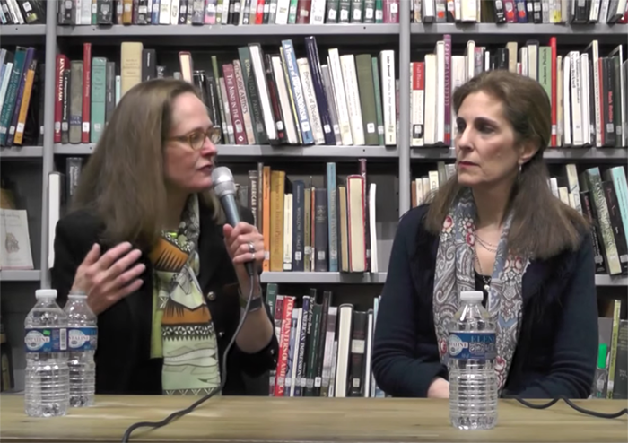 Jessica Levine and April Eberhardt @ the American Library in Paris, 24 February 2015