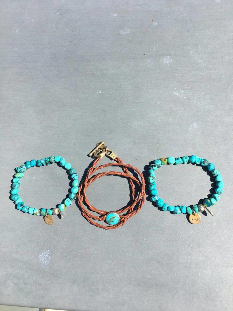 My Turquoise Bracelets cc: Kelly Droz
