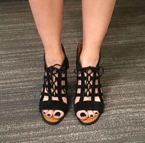 Suede Open Toe Heels cc:Kelly Droz