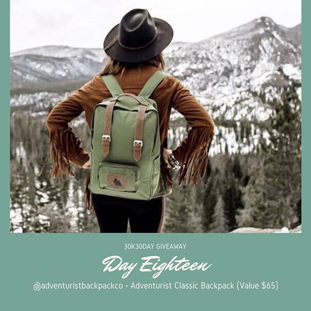 #30K30DayGiveaway // Day Eighteen on this very #FirstDayofWinter    You Win: Adventurist Classic Backpack (Value $64)   TO 🏆: Follow @adventuristbackpacks and tell us where you'd like to adventure to in 2019 👇👇 [Open to all @denverstylemagazine followers near and far. Redemption online]