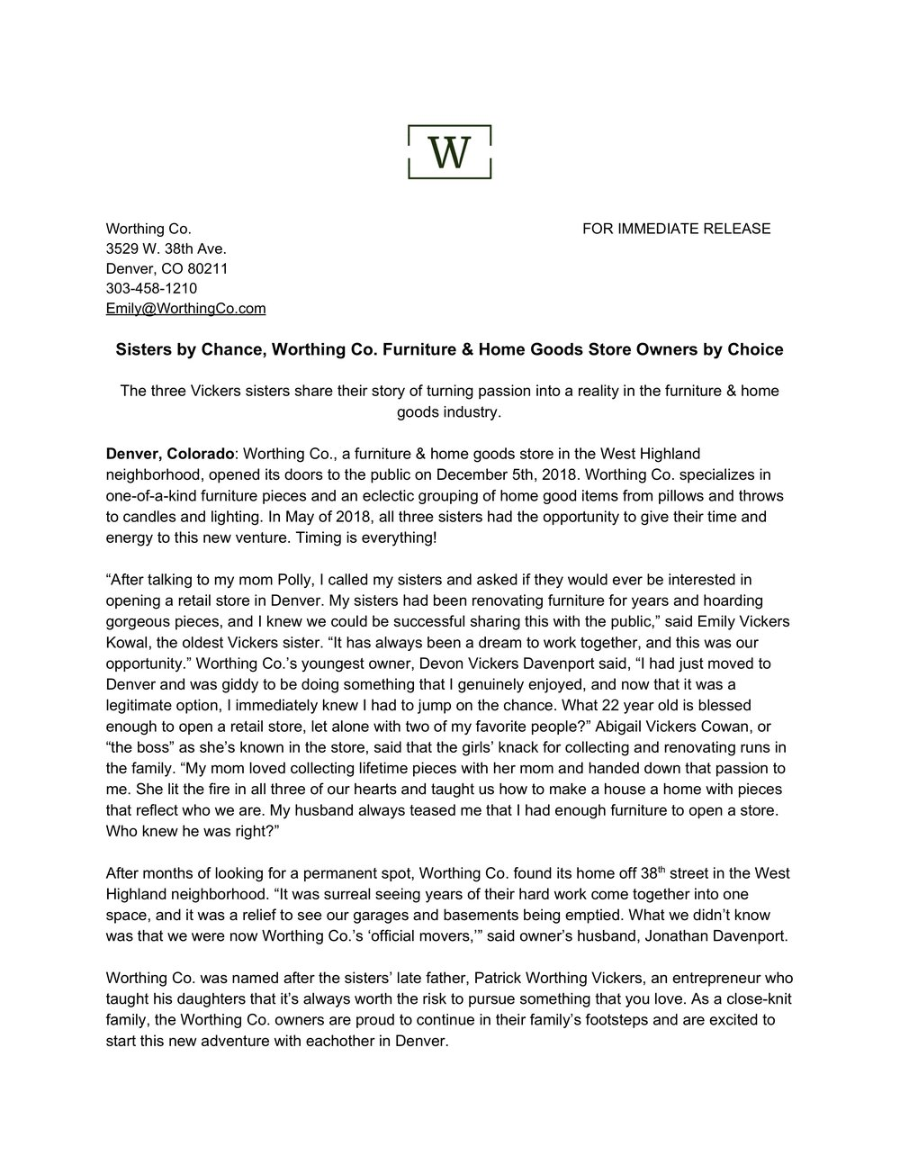 Worthing Co. Press Release.jpg