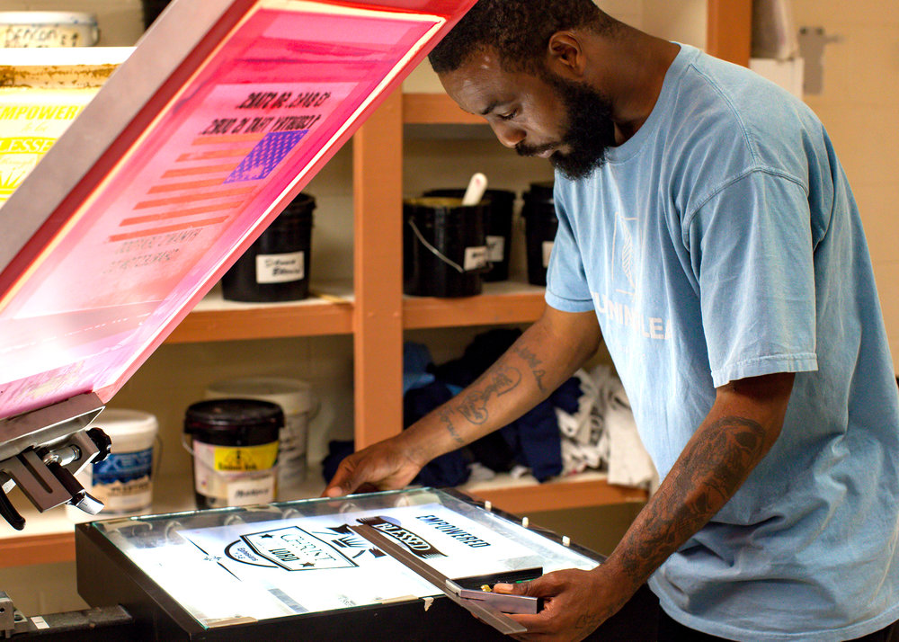 In-House Employment - Transitional employment in ourscreen printing shop.