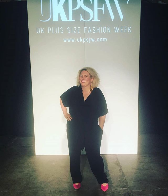 WHY SO SERIOUS? Comedian, writer, blogger @helenwearsasize18 one half of @scummymummies rocking her @marksandspencer jumpsuit.  Fashion should be fun  empowering and a form of expression.  #BEPROUDBEYOU